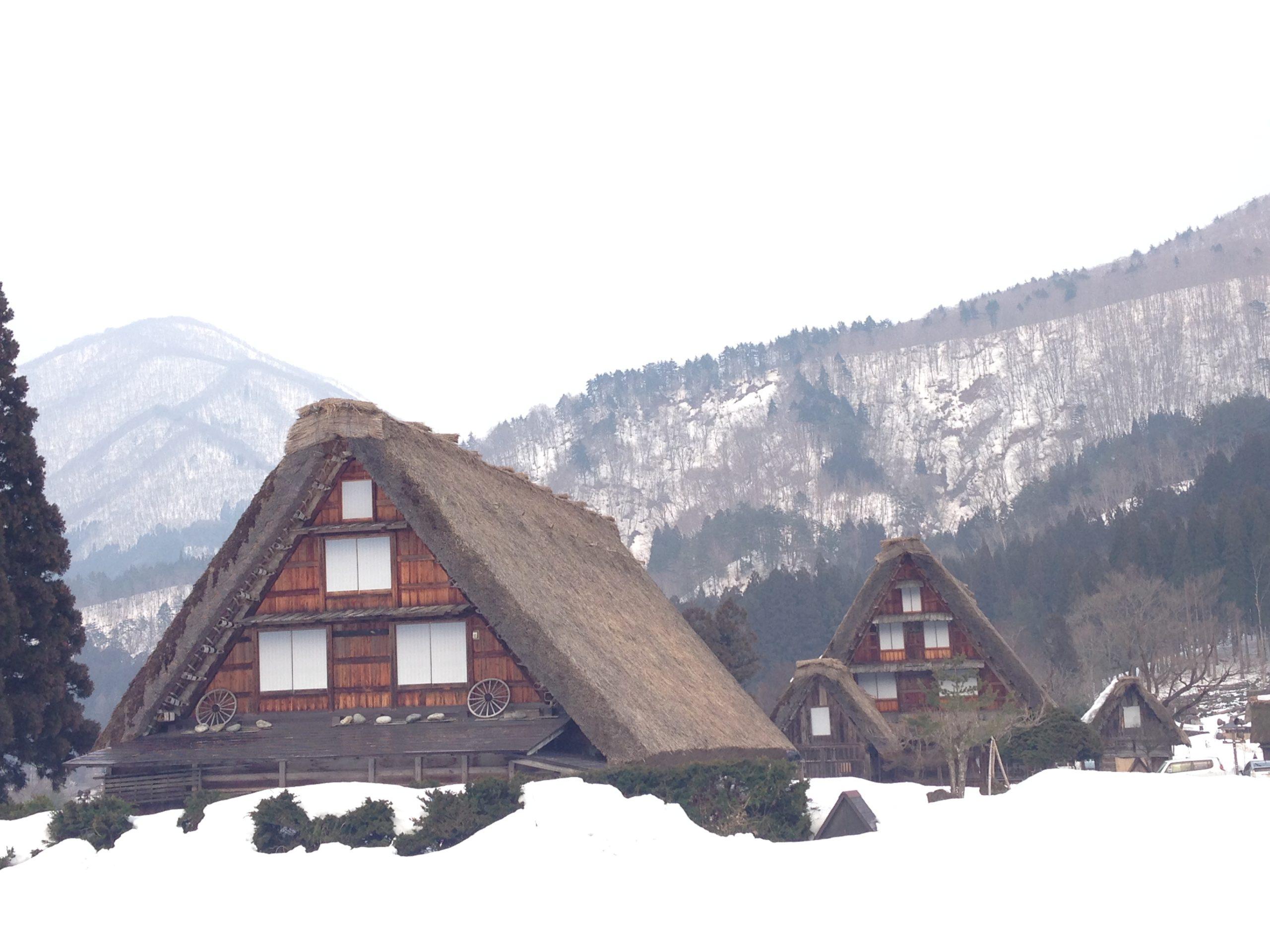 Shirakawa HIda Takayma Gasshozukuri tour Japan tradition snow